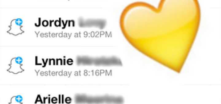 what does yellow heart mean on snapchat
