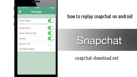 How to replay a snapchat on android