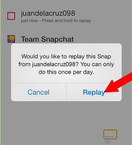 How to use replay on snapchat