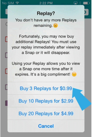 How to replay a snapchat on iPhone 2015
