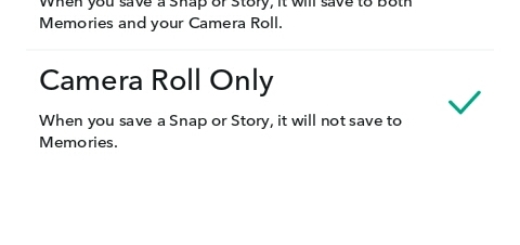 how to save snapchat to camera roll not memories