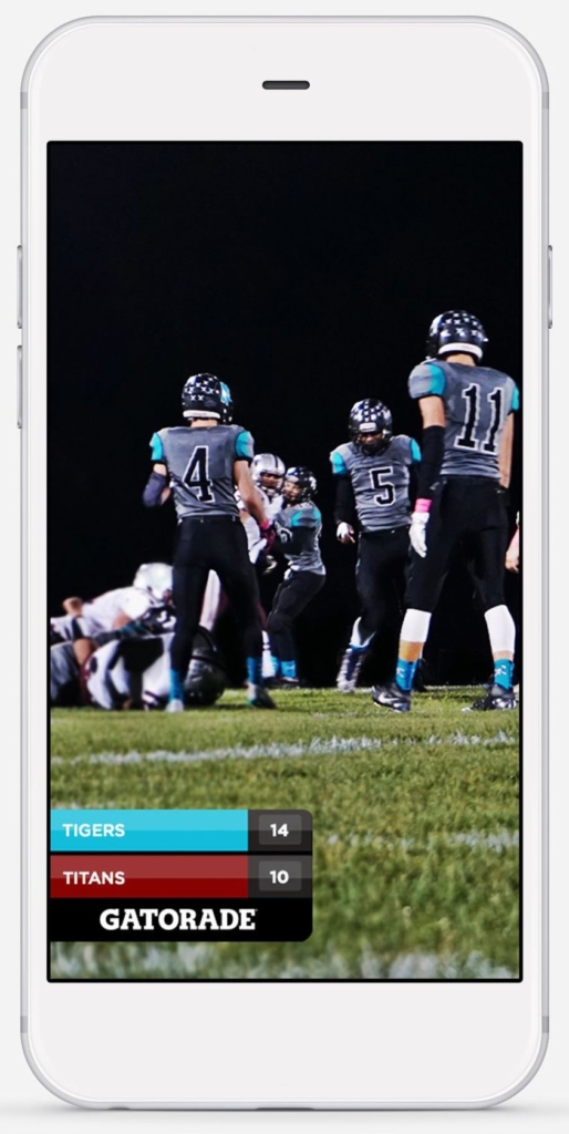 How to use Snapchat high school football score geofilters