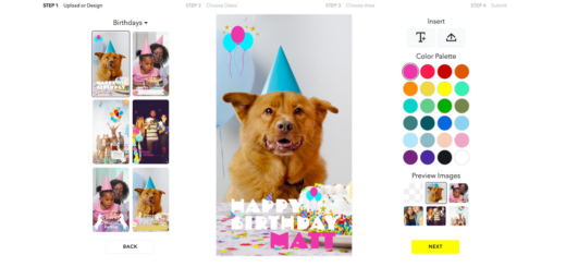 How to make Snapchat custom geofilters with free templates