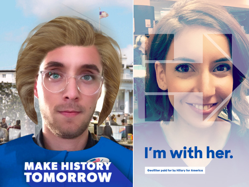 How to use Hillary Clinton Snapchat filter