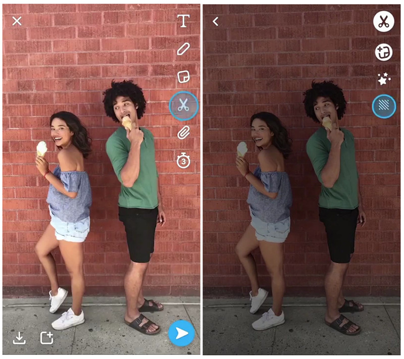 how to add backdrop on snapchat