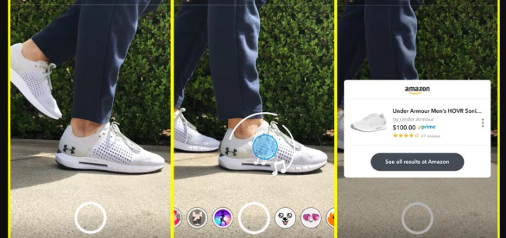 how to use Snapchat app to shop on Amazon