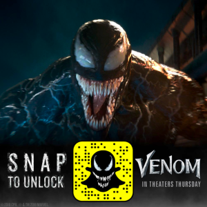 how to use snapchat venom filter