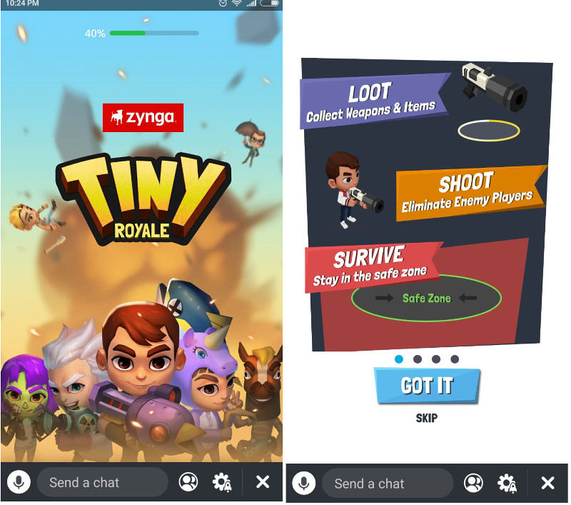 How to play Tiny Royale on Snapchat